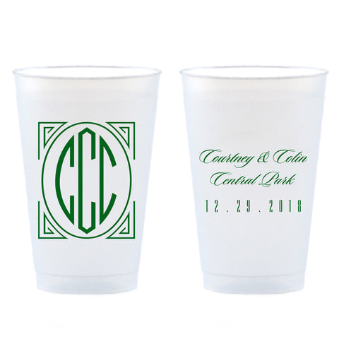 Reserved for Courtney - 14 oz Personalized Shatterproof Cups - Tea and Becky