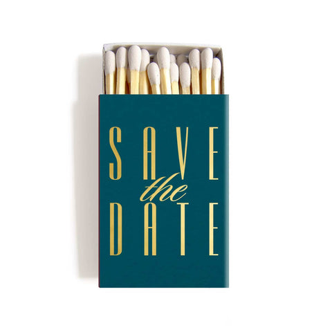 Save the Date Invitation Matchboxes - Personalized Matches - Carrie Collection - Tea and Becky