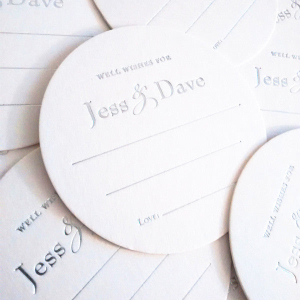 Well Wishes Coasters - Guest Book Alternative - Tea and Becky