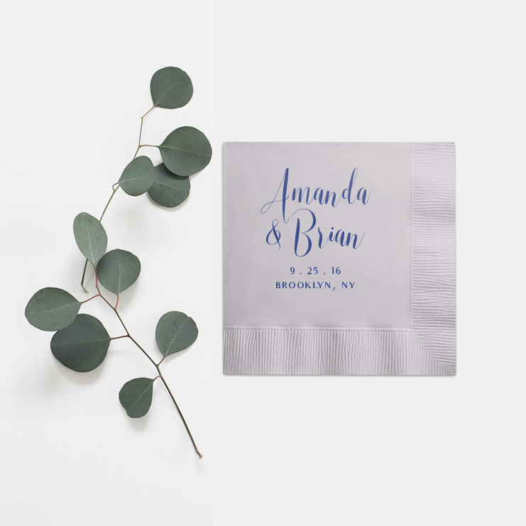 Personalized Wedding Napkins - Set of 100 - Monica Collection - Tea and Becky