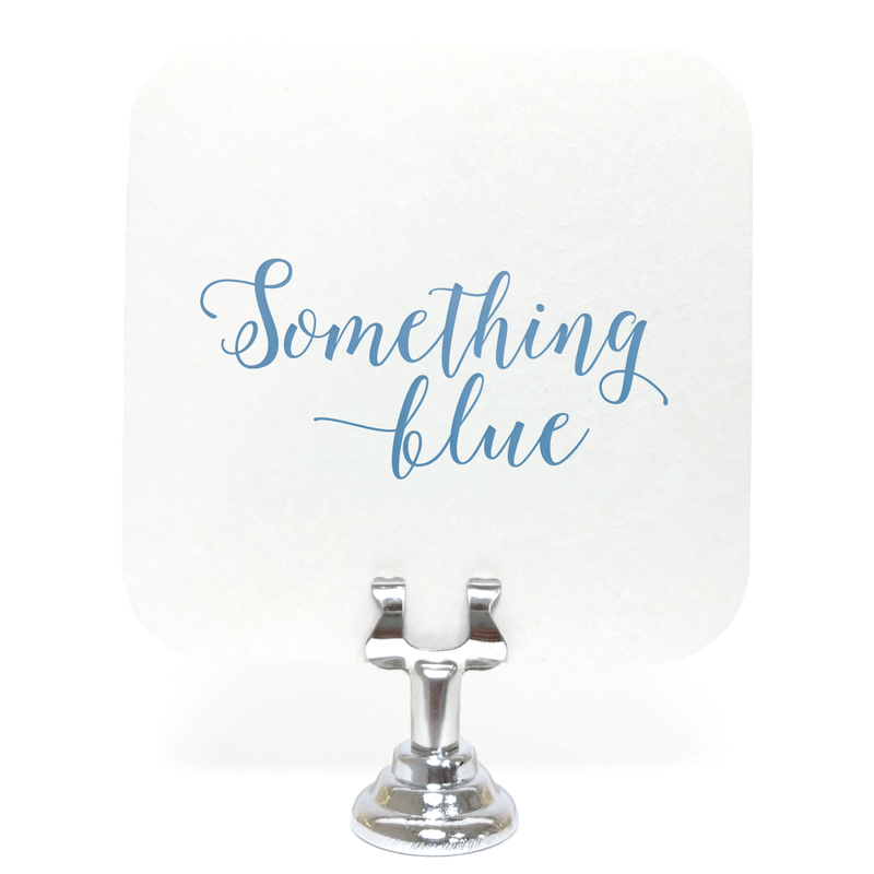 Something Blue Coasters - Set of 10 - Tea and Becky