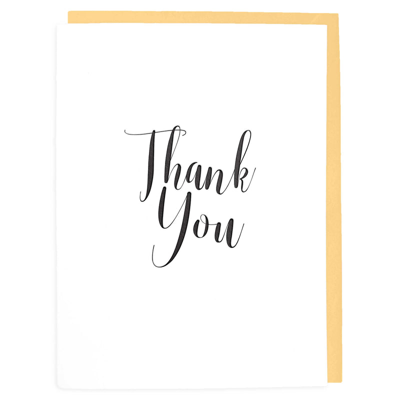 Thank You Card - Letterpress Greeting Card - Tea and Becky