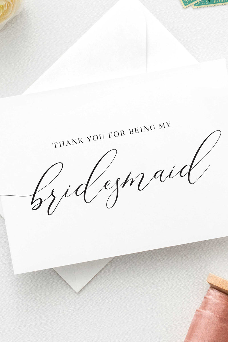 Thank You For Being My Bridesmaid Card - Tea and Becky