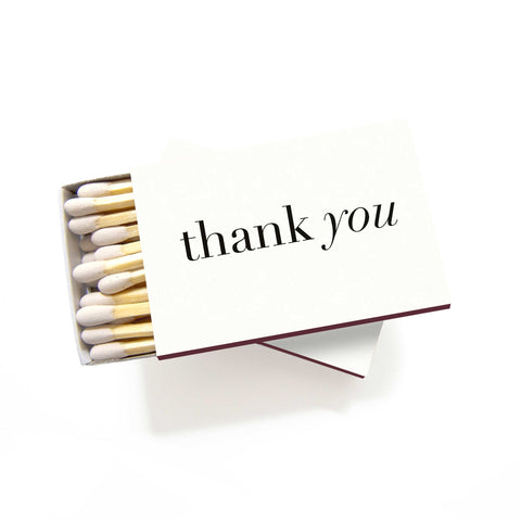 Thank You Matchboxes - Set of 6 - Tea and Becky