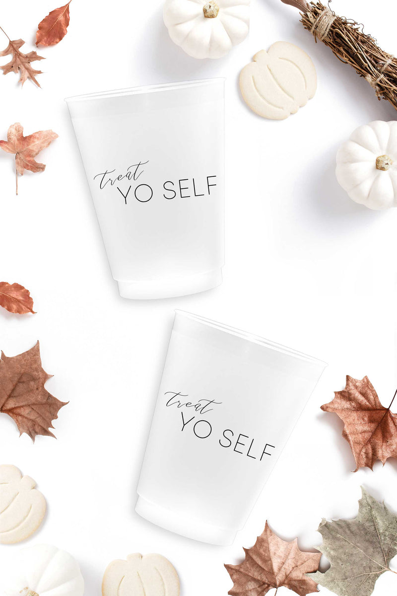Treat Yo Self Halloween Cups - Tea and Becky