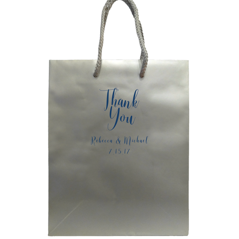 Personalized Elegant Thank You Bags - Tea and Becky