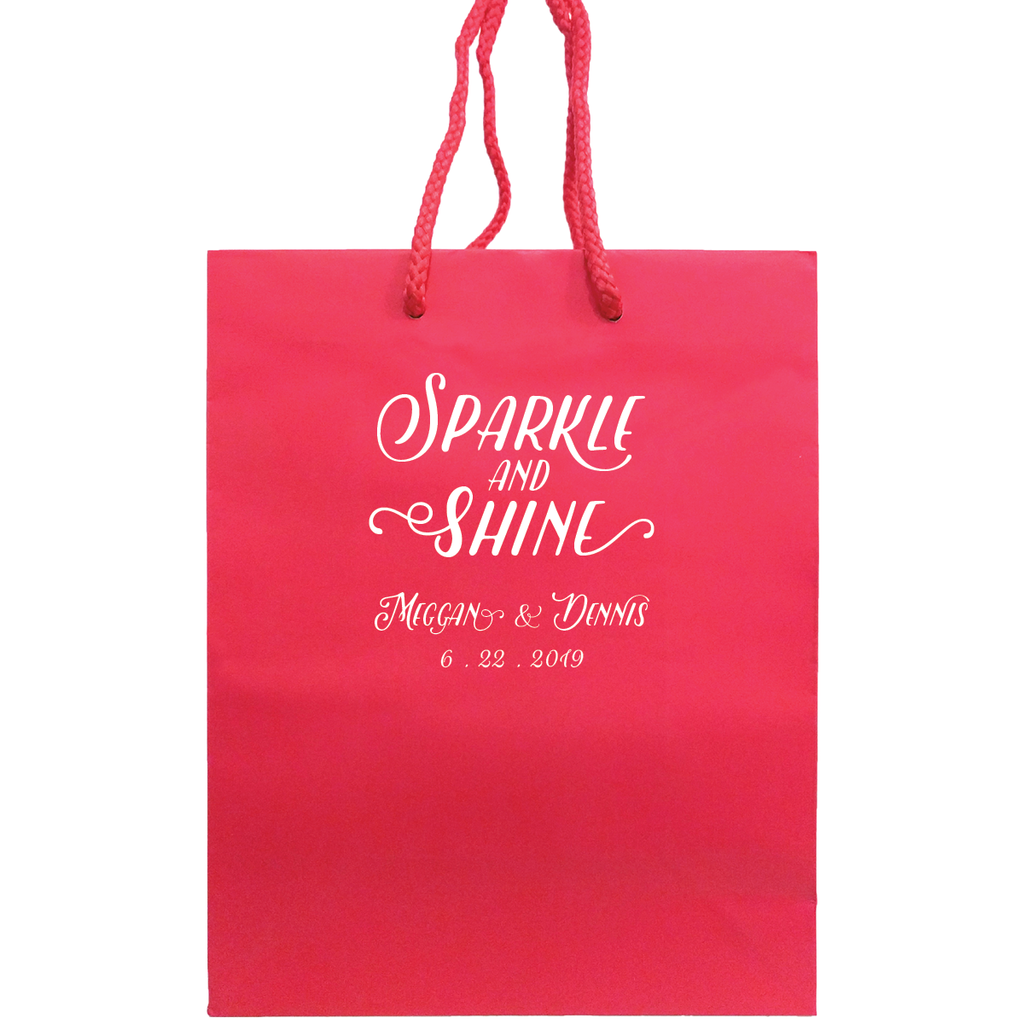 Personalized Wedding Welcome Bags - Foil Gift Bag - Monica ...