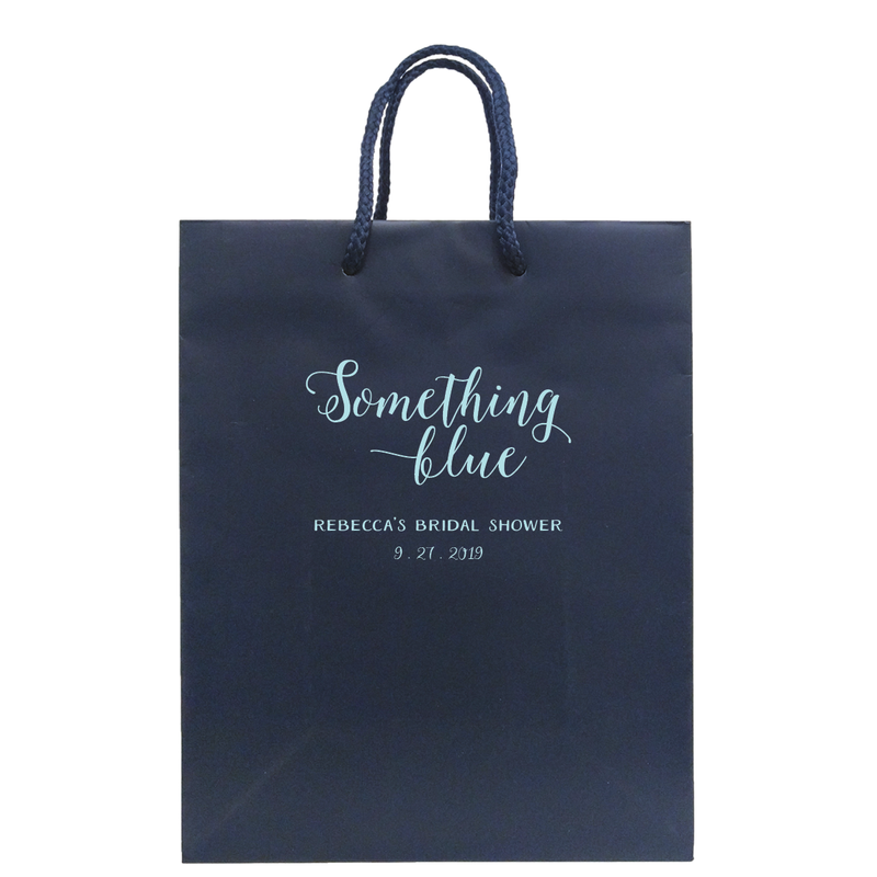 Something Blue Bridal Shower Bags - Bridget Collection - Tea and Becky