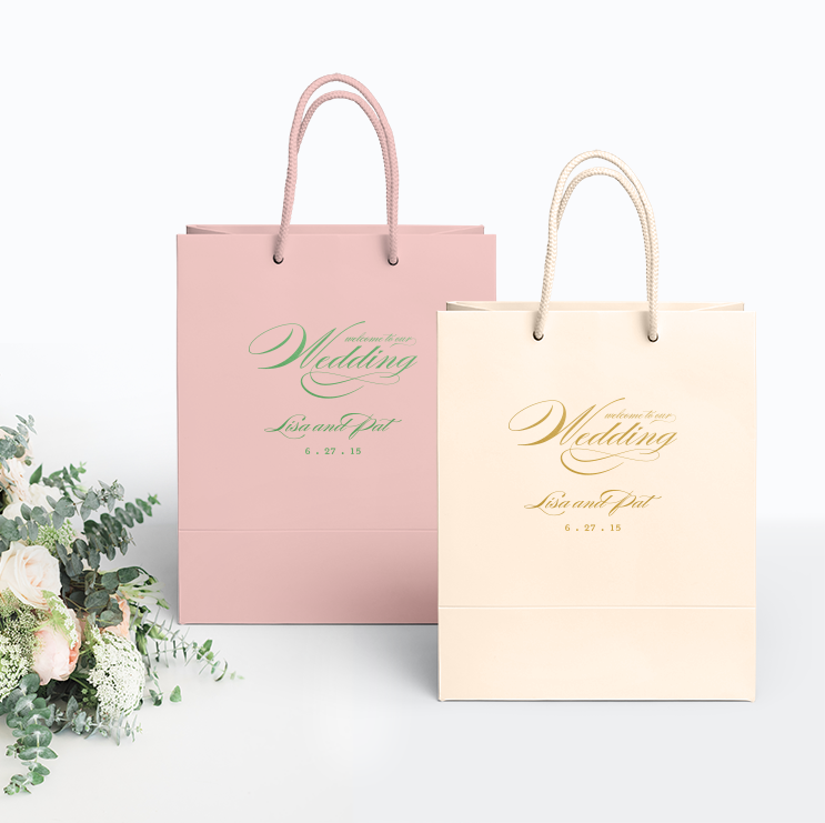 Welcome To Our Wedding Bags Personalized Gift Bag Audrey