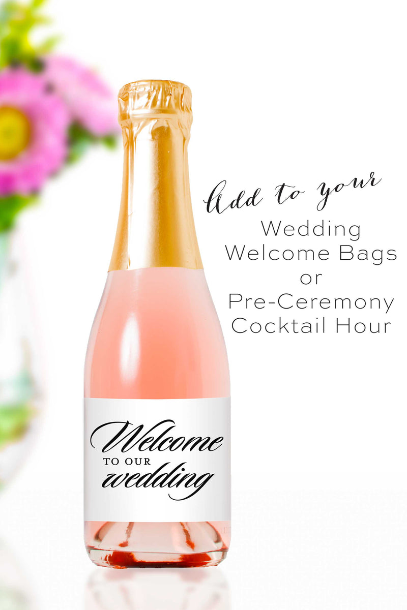 Welcome to our Wedding Mini Champagne Bottle Labels - Tea and Becky