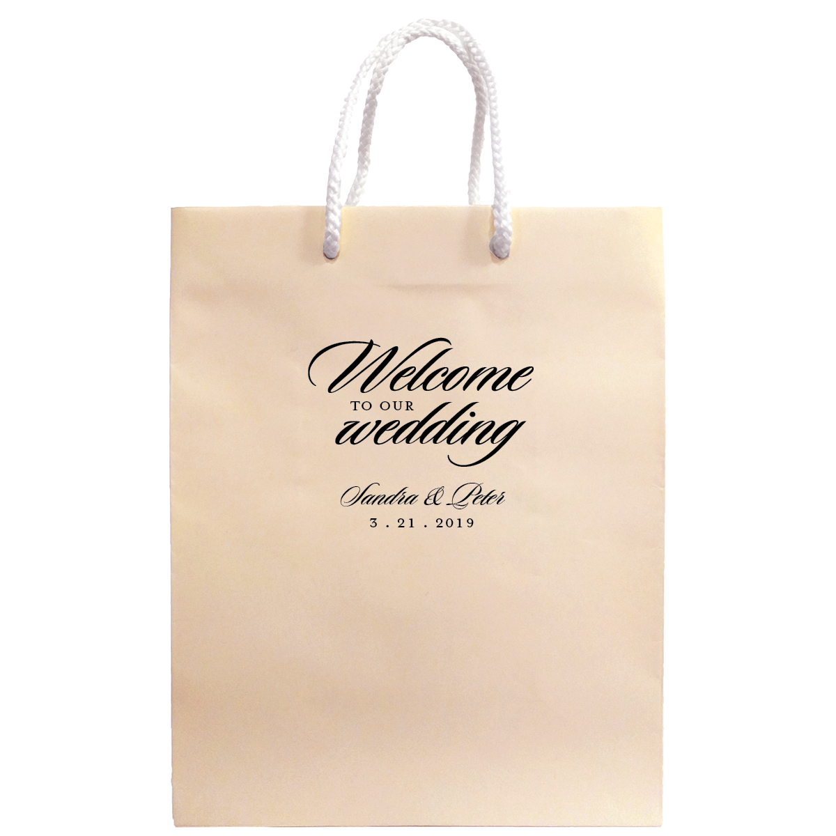 Personalized Welcome to our Wedding Bags - Carrie Collection – Tea ...