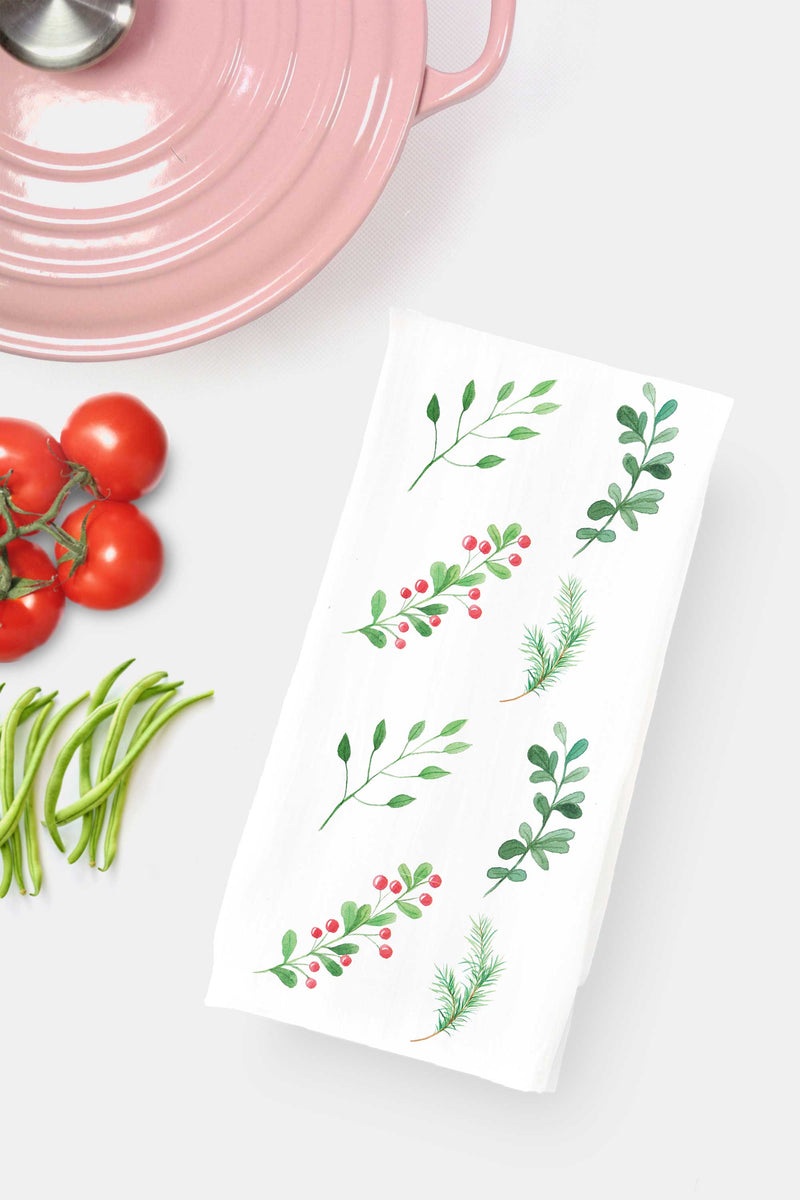 Winter Berries Tea Towel - Tea and Becky