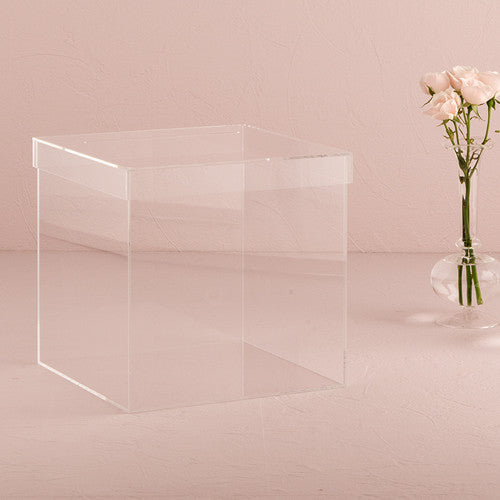 Wishing Well Lucite Wedding Card Box - Tea and Becky