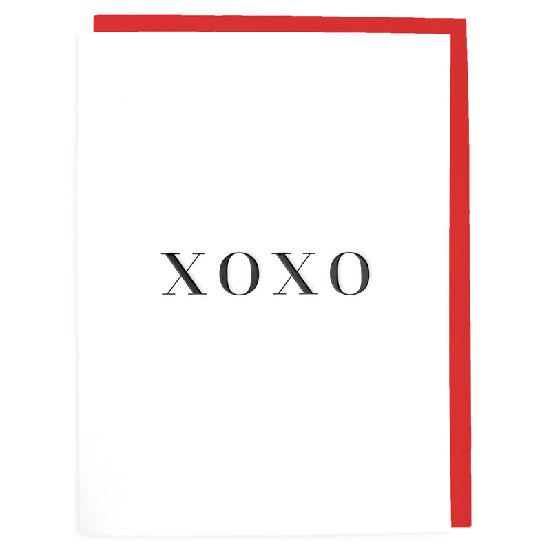 XOXO Card - Letterpress Greeting Card - Tea and Becky
