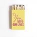 You Light Up Our Lives Matchboxes - Personalized Wedding Favors - Tea and Becky