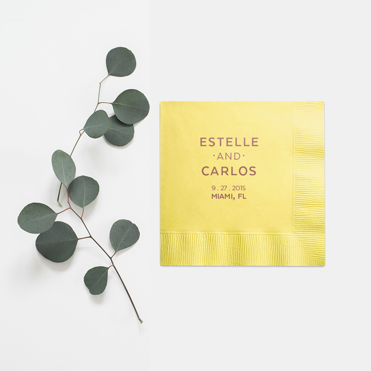Personalized Wedding Napkins - Amelie Collection - Tea and Becky