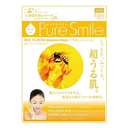 Pure Smile - Essence Mask Bee Venom - Sakura Cosme Canada
