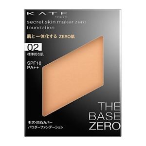 KATE - Secret Skin Maker Zero Powder Foundation 02 Average Skin Tone [Refil] - Sakura Cosme Canada