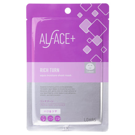 Alface - Rich Turn Aqua Moisture Sheet Mask 1pc - Sakura Cosme Canada