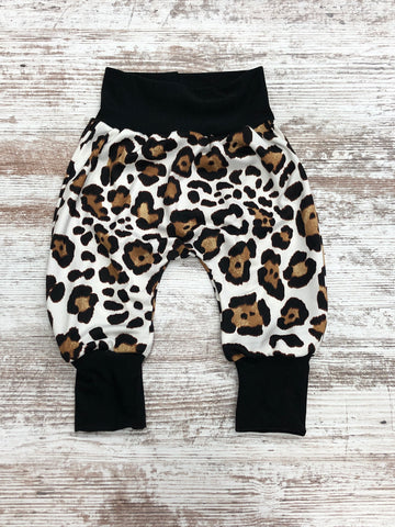 Ivory Cheetah Harem Pants