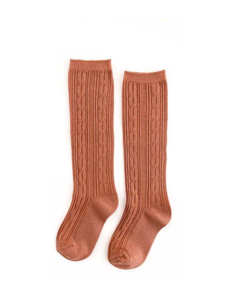 Marmalade cable knit knee high socks