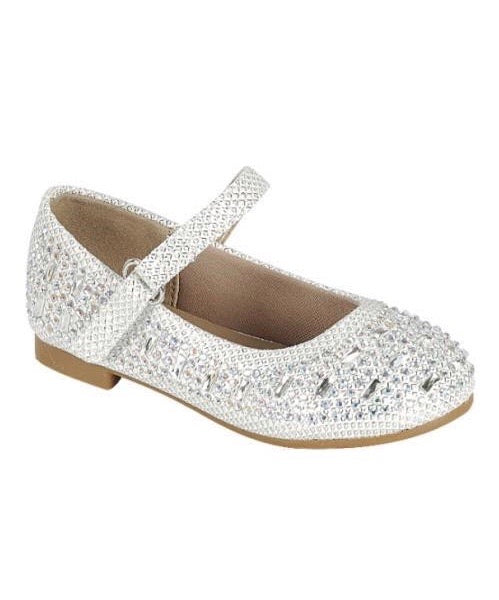 All that Glitters White Ballet Flats-infant/toddler