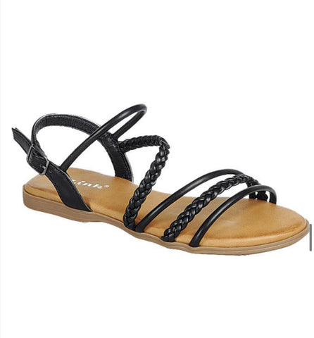 Black Strappy Sandal - toddler/kids