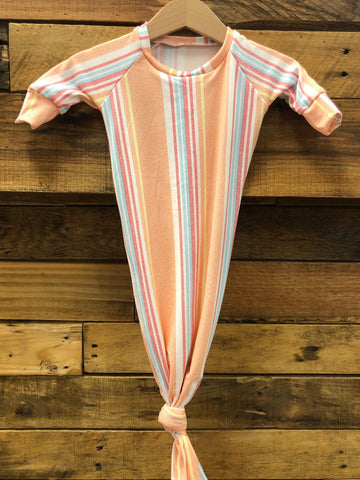Candy Stripe Knotted Sleeper