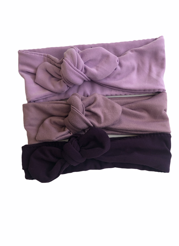 Knot bow headband - Purple Tones