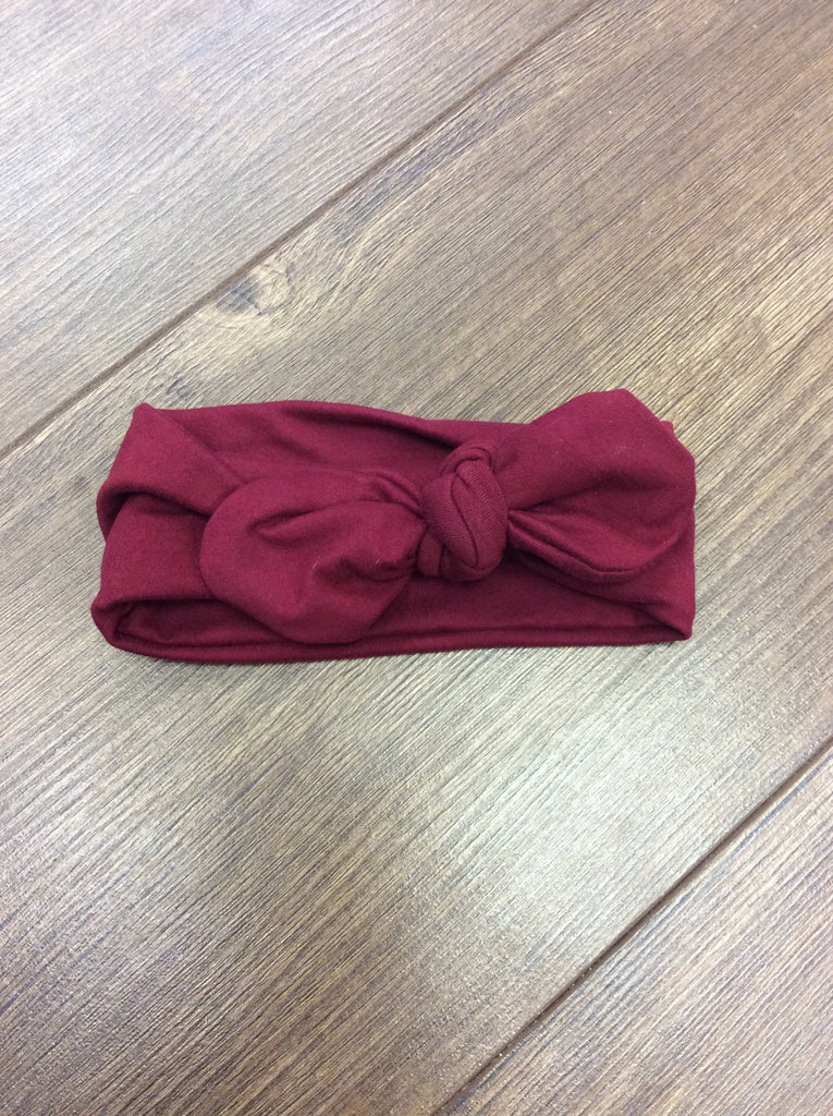 Knot bow headband - wine