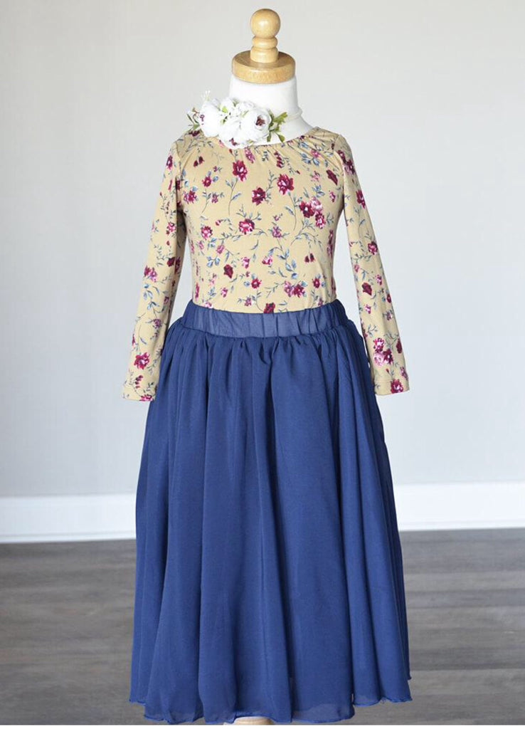 Aurora Maxi Skirt- Navy