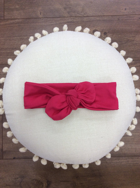 Knot bow headband - Dark Pink
