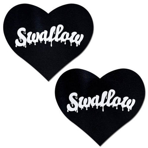 """Swallow"" in White on Black Heart"