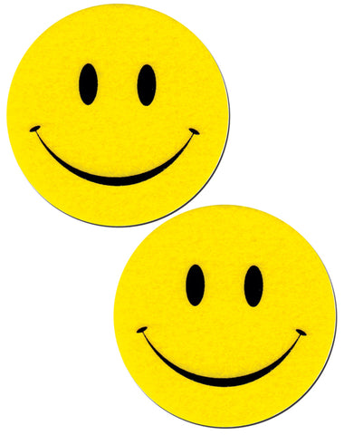 Smiley Faces: Bright Yellow Nipple Pasties