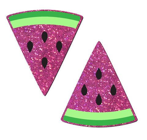 Hot Pink Glittering Watermelon Nipple Pasties