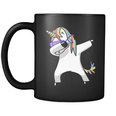 Drinkware - Dabbing Unicorn Black Coffee Mug