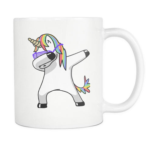 Drinkware - Dabbing Unicorn White Coffee Mug