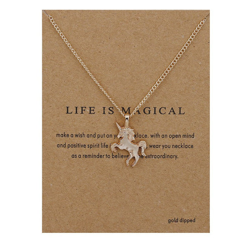 Necklace - FREE Magical Unicorn Necklace - Just Pay Shipping
