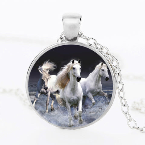 Vintage Unicorn Pendant Necklace