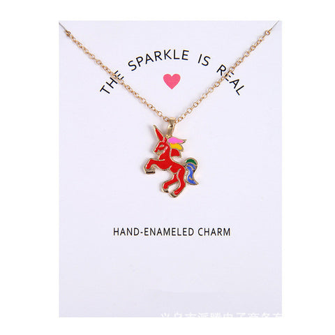 The Sparkle Is Real Unicorn Necklace