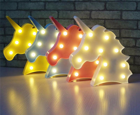 Cute Unicorn LED Night Light