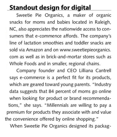 Packaging World: Sweetie Pie Organics' Standout Design for Digital