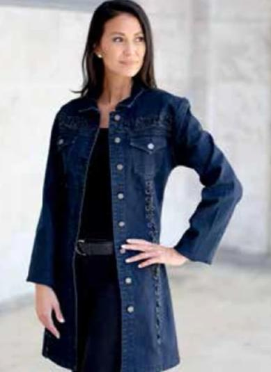 Venario Amina Denim Coat