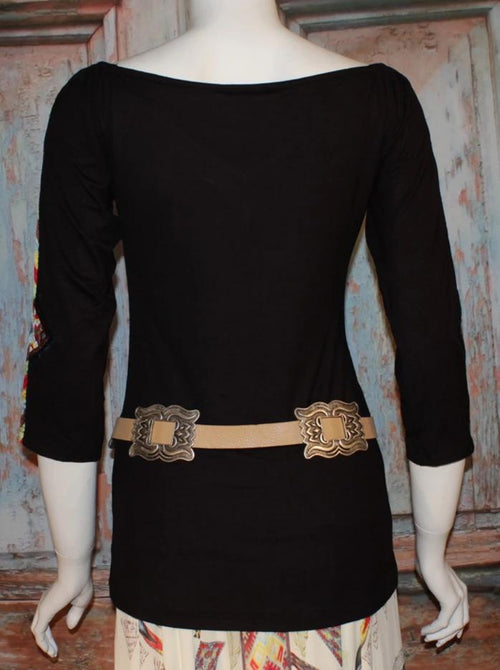 VINTAGE COLLECTION ANGEL WINGS BLK KNIT TOP ON SALE