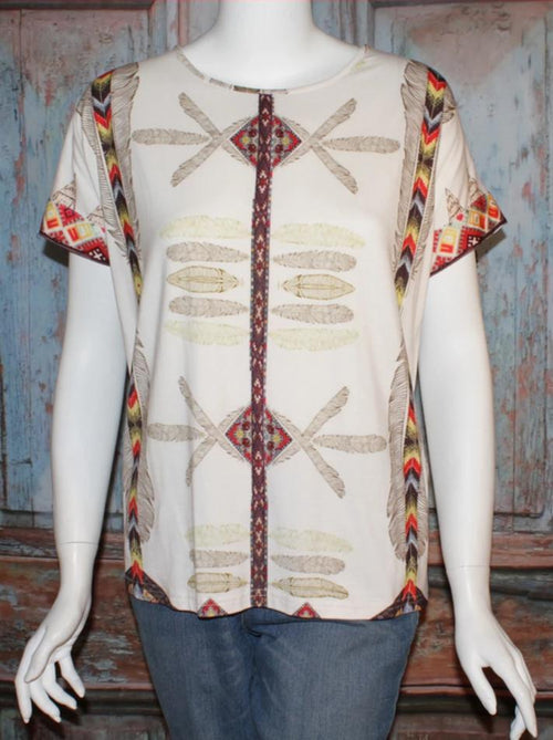 VINTAGE COLLECTION ANGEL WINGS PRINTED KNIT TOP on SALE