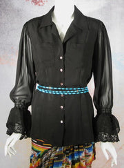 Vintage Collection Black Two Pocket Blouse