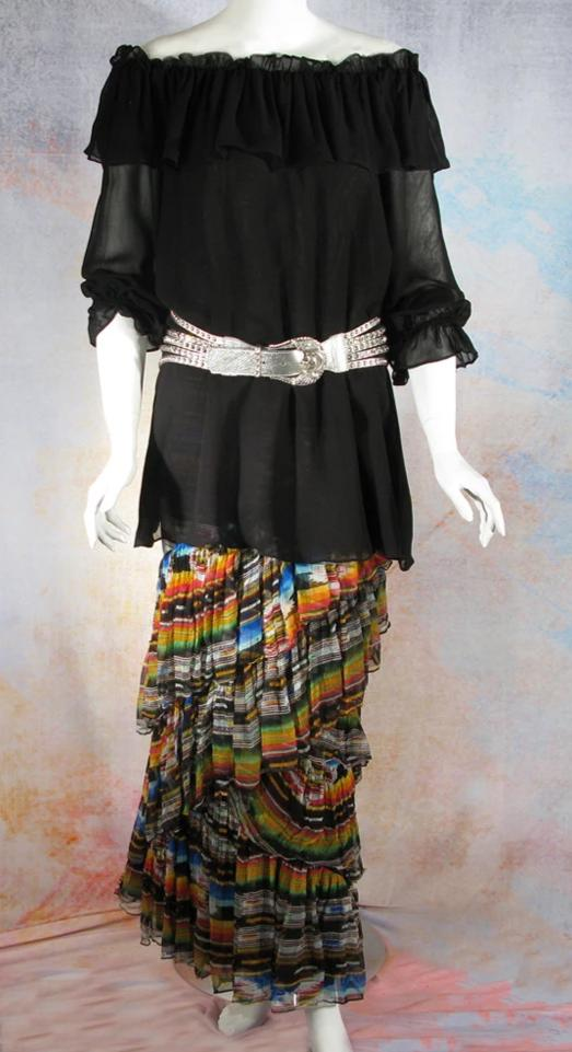 VINTAGE COLLECTION BLACK NEW PEASANT BLOUSE/ TUNIC
