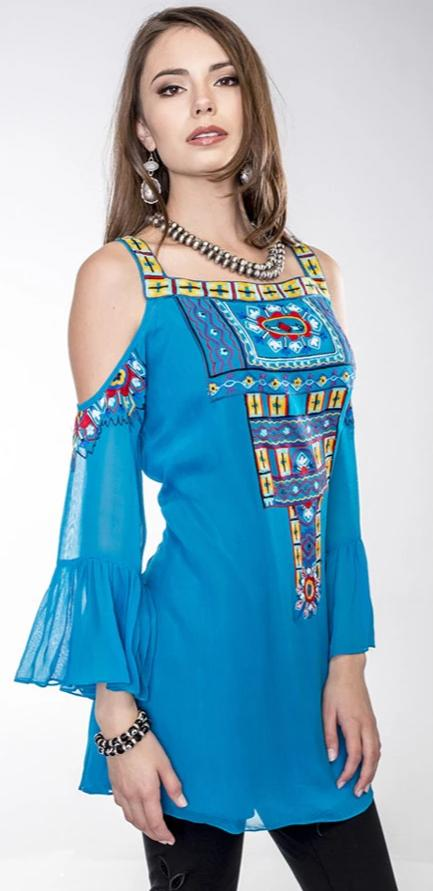 VINTAGE COLLECTION BLUE DIAMOND TUNIC on SALE