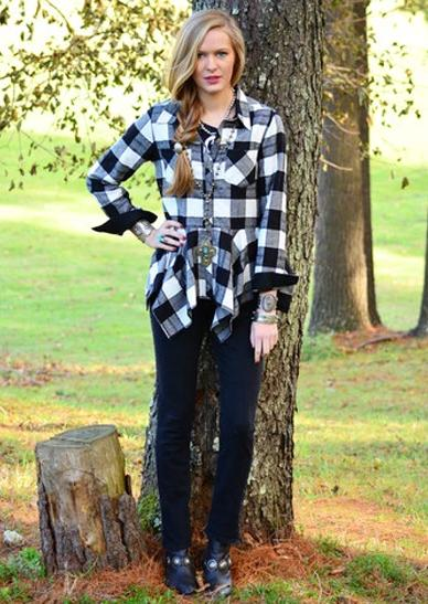 Tasha Polizzi Buffalo Plaid Shirt