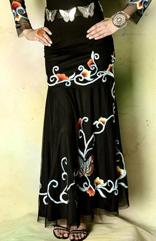 VINTAGE COLLECTION BUTTERFLY LONG SKIRT_COLLECTIBLE